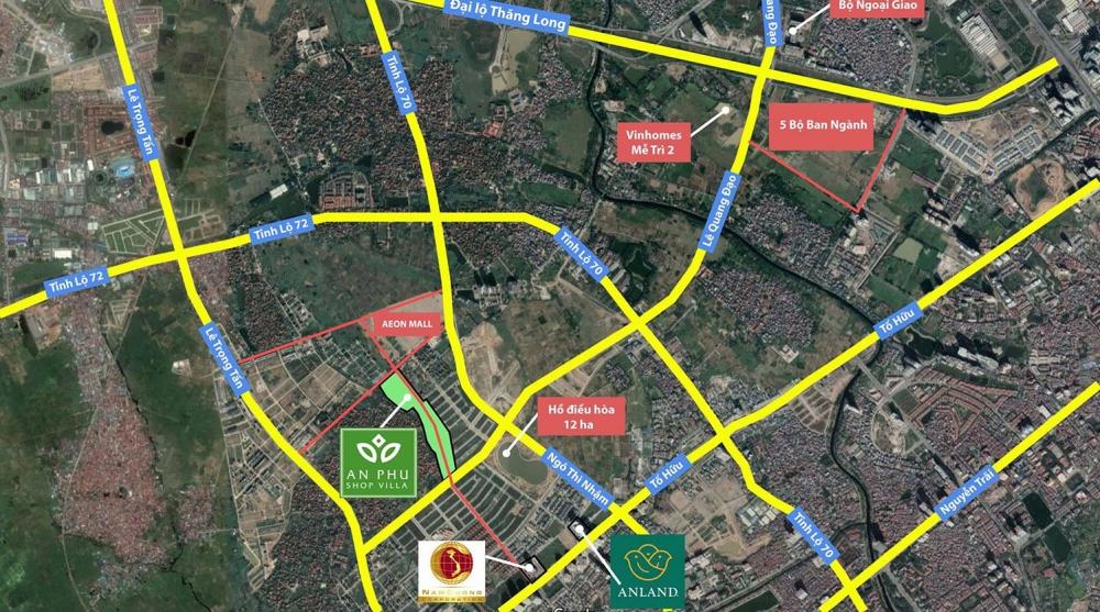 Vị trí khu đô thị mới Dương Nội A