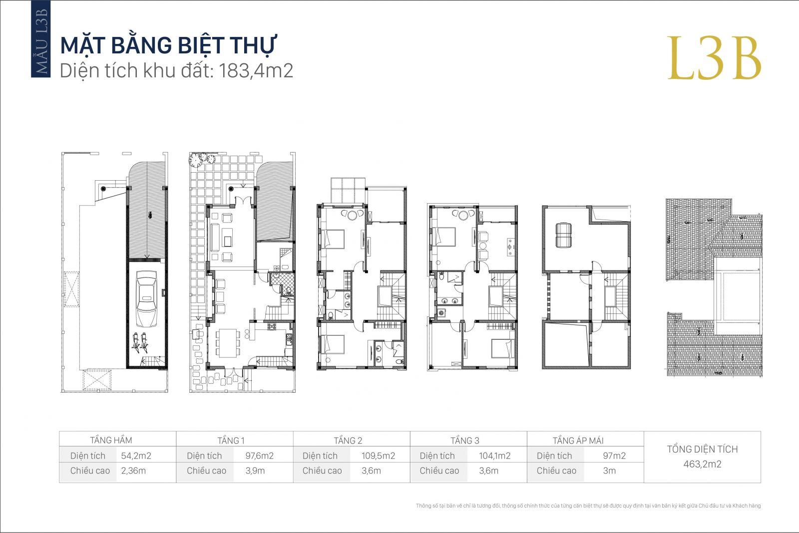 Mặt bằng thiết kế biệt thự An Khang Villa Dương Nội
