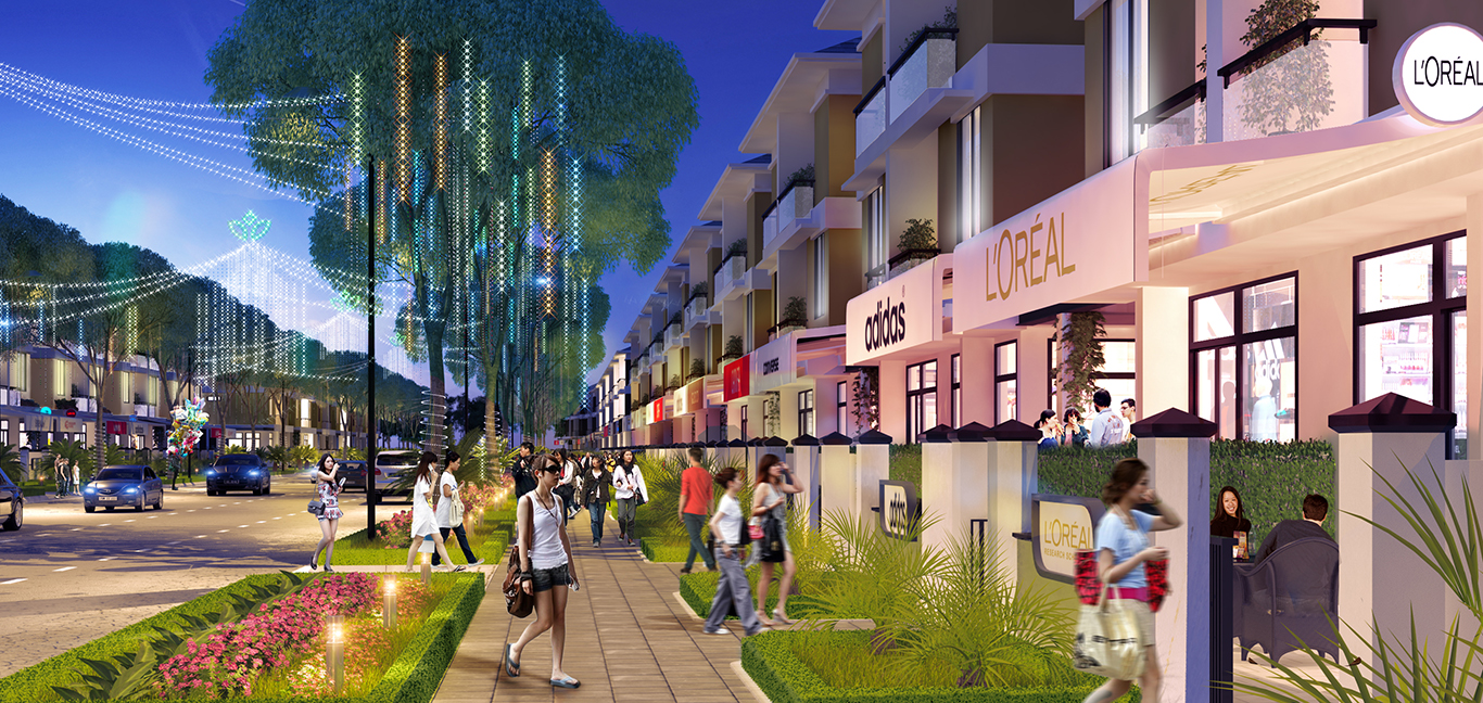 An Phú Shop Villa sẽ sở hữu một phố thương mại sầm uất nhất khu vực