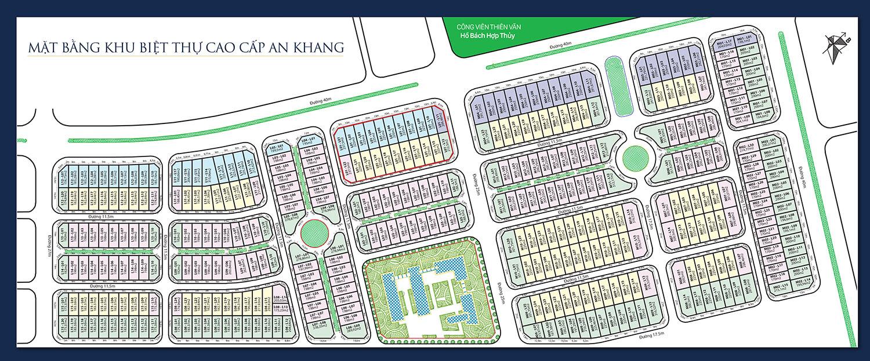 Mặt bằng phân lô biệt thự An Khang Villa